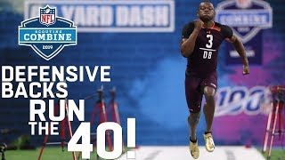 Defensive Backs Run the 40-Yard Dash | 2019 NFL Scouting Combine Highlights