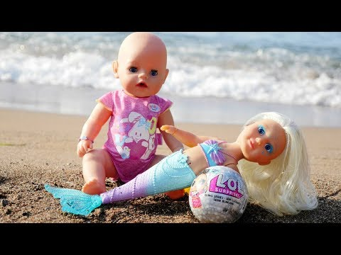 LOL Surprise Doll for Baby Born Doll: Beach Time with Baby Doll - Baby Born Doll Videos