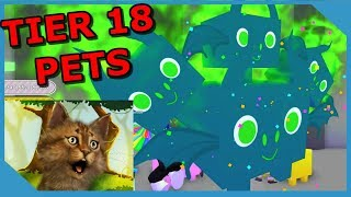 BUYING NEW TIER 18 PETS IN ROBLOX PET SIMULATOR *OVERPOWERED*