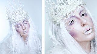 Ice Queen Makeup + Crown Halloween Tutorial! | by tashaleelyn
