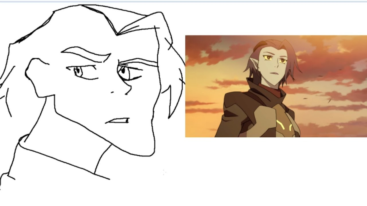ATTEMPTING TO DRAW Voltron Season 7 Characters With A