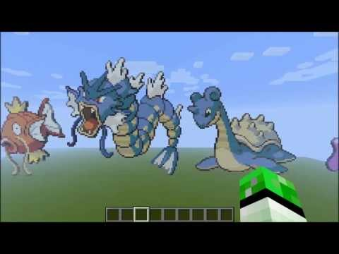 Minecraft Pokemon Pixel Art Kanto 151 [+Download]