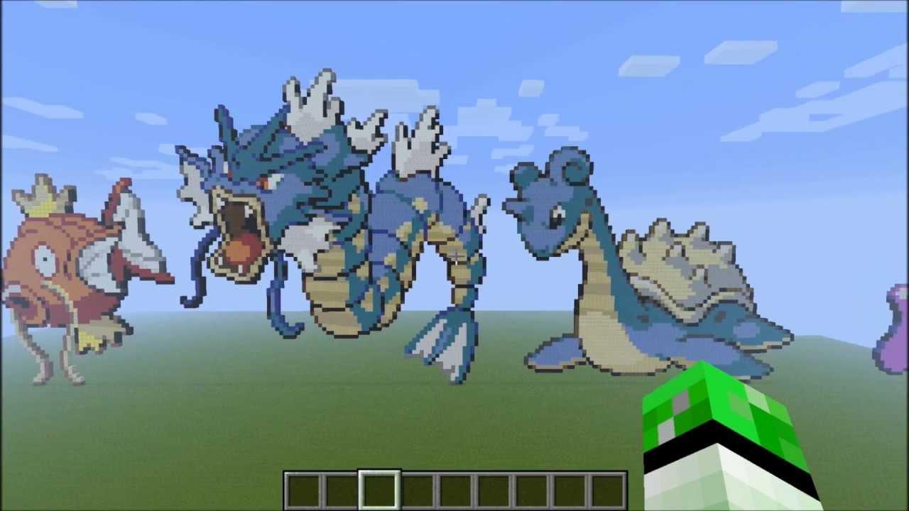 Minecraft Pokemon Pixel Art Kanto 151 Download Youtube
