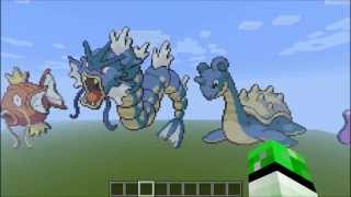 Minecraft Pokemon Pixel Art Kanto 151 [+Download]