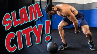 TOTAL BODY 3-Minute Slam Ball Workout (STRENGTH & POWER)