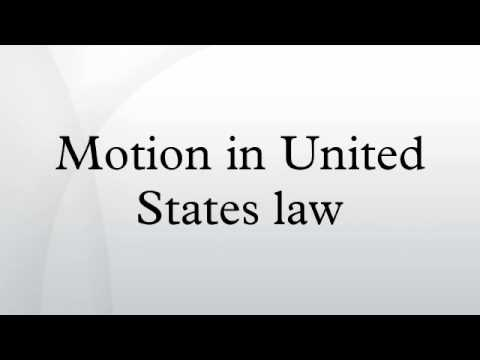 Motion in United States law