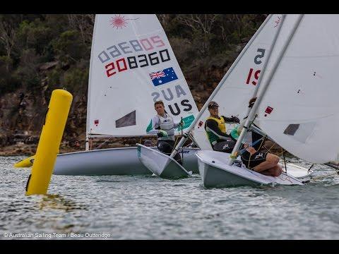 Australian Laser Team training in Sydney
