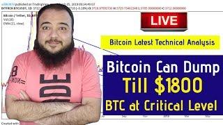Bitcoin Latest Technical Analysis - Bitcoin Can 😳Dump Till $1800 BTC at Critical Level 😳