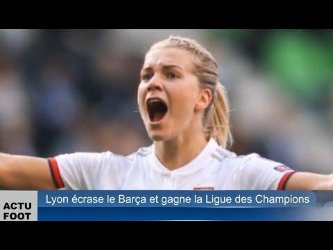 Lyon écrase le Barça et gagne la Ligue des Champions