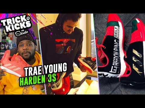 Trae Young Gets TUFF Harden 3 Customs From Sierato! Wears IN