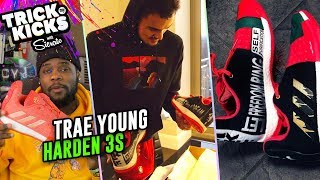 Trae Young Gets TUFF Harden 3 Customs From Sierato! Wears IN GAME For MLK Day 💯