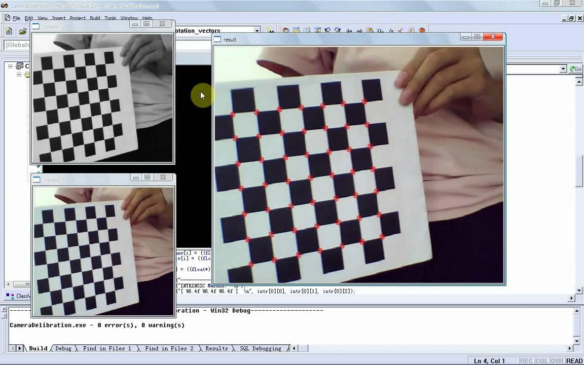 Calibration using Zhang's Method with OpenCV