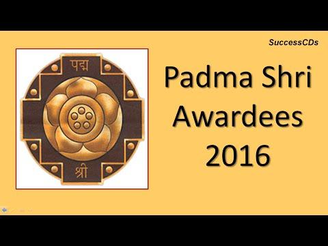 Padma Shri Awards 2016   Latest General Knowledge
