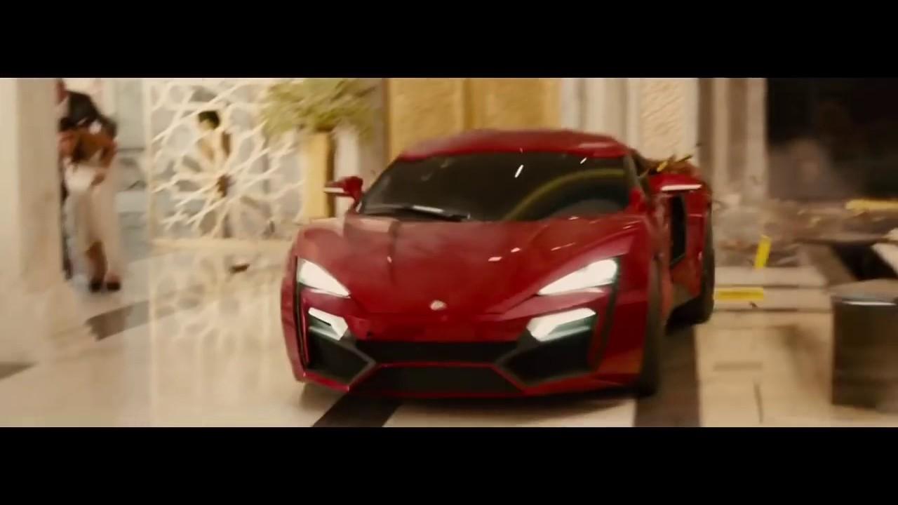 Best Scene Fast And Furious 7 Car Jump Abu Dabi Youtube