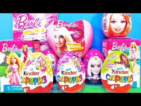 БАРБИ Mix! СЮРПРИЗЫ с игрушками Barbie Sweet Box, Kinder Surprise eggs unboxing
