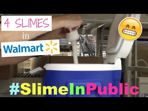 MAKING 4 SLIMES IN WALMART!! SLIME IN PUBLIC SUPPLY HAUL!! #SlimeInPublic PART 2! WE GET KICKED OUT!
