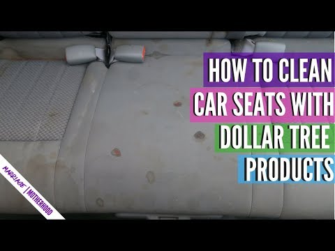 HOW TO CLEAN CAR SEATS AT HOME