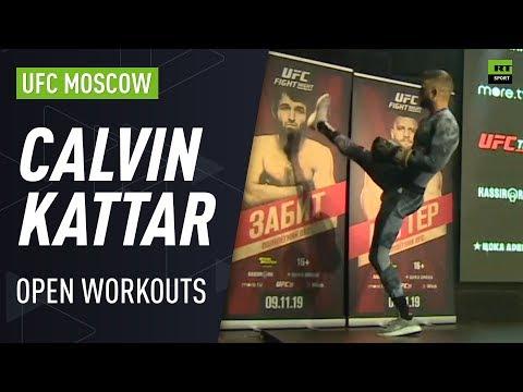 Calvin Kattar trolls Russian fans at UFC Moscow Open Workouts