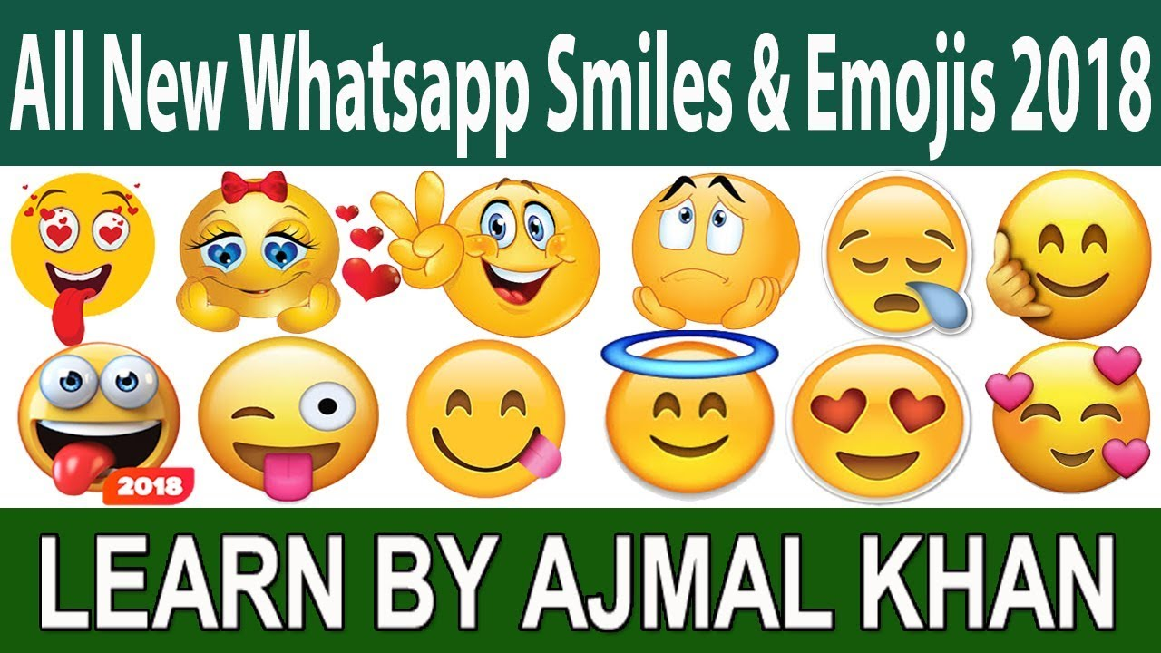 All New Whatsapp Face Emojis And Smiley Meanings For 2018 Learn The
