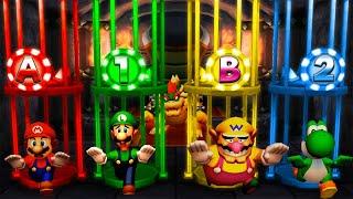 Mario Party The Top 100 MiniGames - Mario Vs Luigi Vs Wario Vs Yoshi (Master Cpu)
