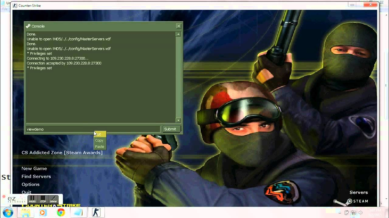 How to record and play demo in counter strike 1. 6 youtube.