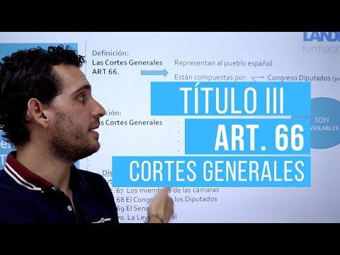 Título III de la CE. Artículo 66. Las Cortes Generales.