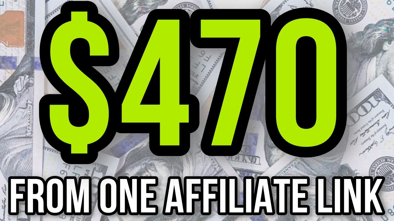 HOW I EARNED $470 FROM ONE AFFILIATE LINK 💰PASSIVE INCOME IDEAS
