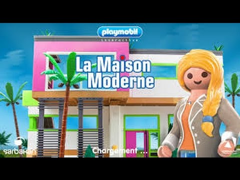 Playmobil la maison moderne jeu vid o youtube for Maison moderne playmobil