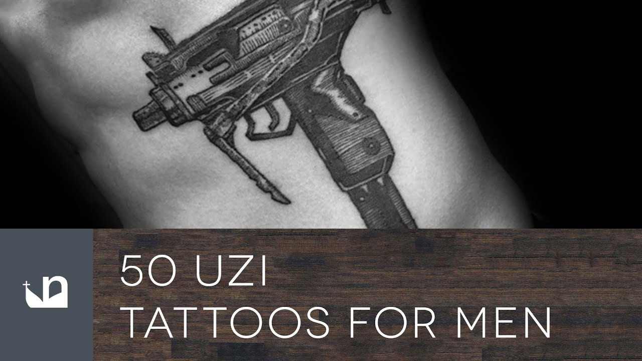 50 Uzi Tattoo Ideas For Men – Firearm Designs