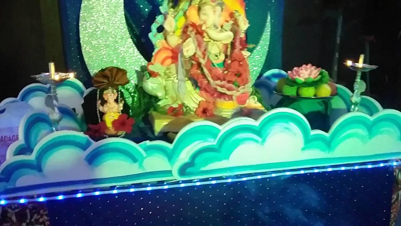 Home Ganpati Decoration 2016 Youtube