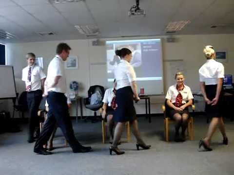 Training as british airways cabin crew - YouTube