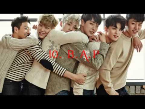 Top 10 Korean Boy Bands 2017