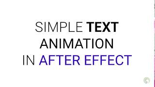 Simple Typing text animation in After Effect [Tutorial]