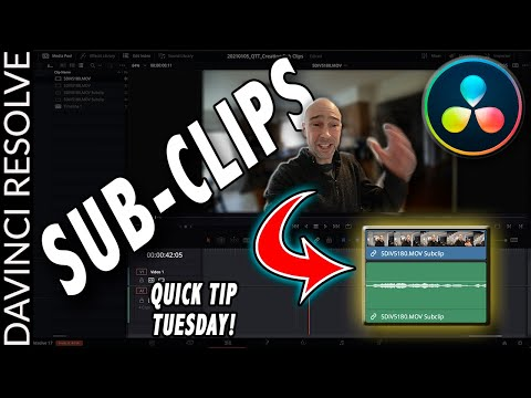 How to Create Sub Clips in DaVinci Resolve 17 | Quick Tip Tuesday