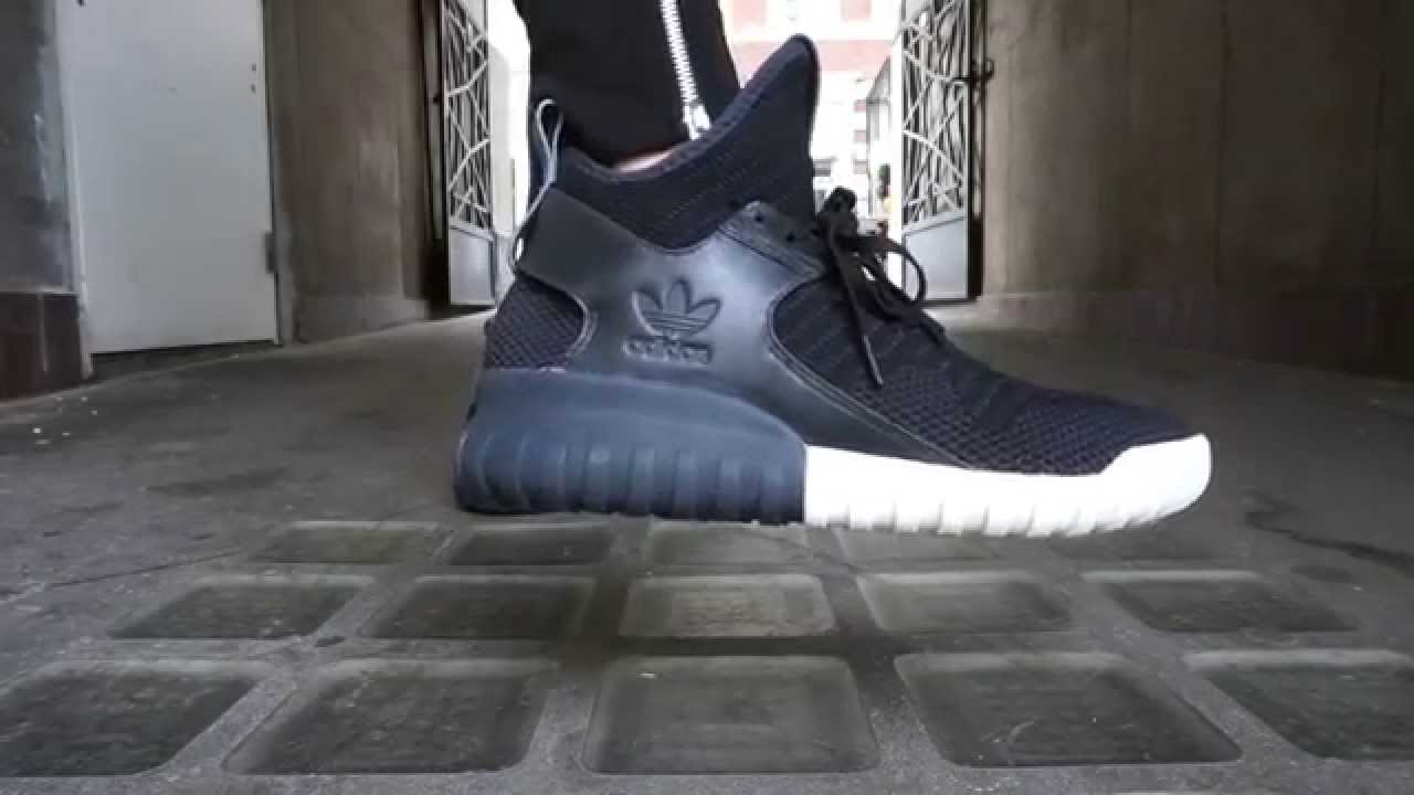 adidas Tubular X Primeknit Core Black/Dark Grey/Core Black Footshop
