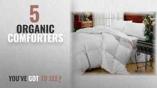 Top 10 Organic Comforters [2018]: Organic Comfort Down Alternative Comforter. Queen size Lighter