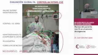 Manejo del paciente con FA en el servicio de urgencias. Dr. Juan Sánchez López.