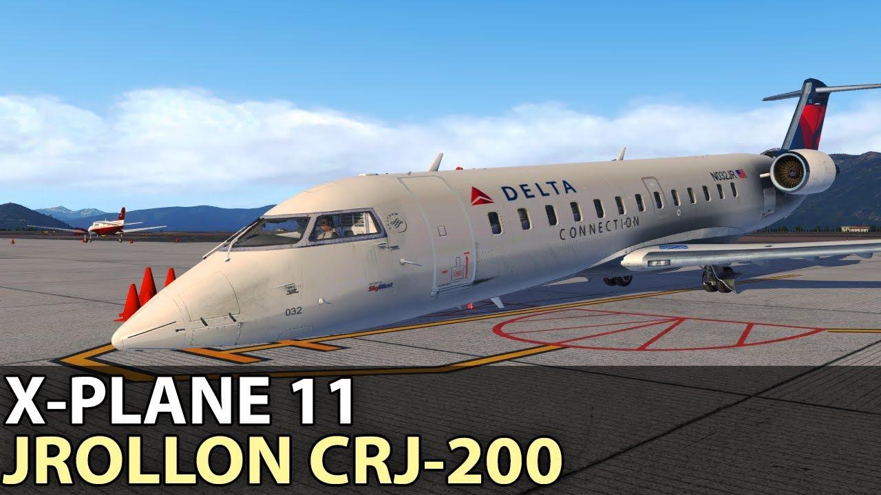 X Plane 11] JRollon CRJ 200 | KLAS KSAN | w/ BSS Sound Pack