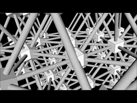 Platonic Structures Series  - 14. Minimum Surfaces - The Rhombic Dodecahedron from Spheres