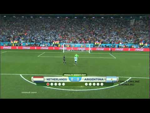 Argentina vs. Netherlands (WC- 2014 Semi-final) -- Long Highlights & Penalty ShootOut !