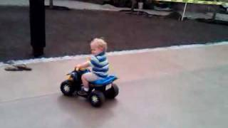 jman rides his monster truck out the garage