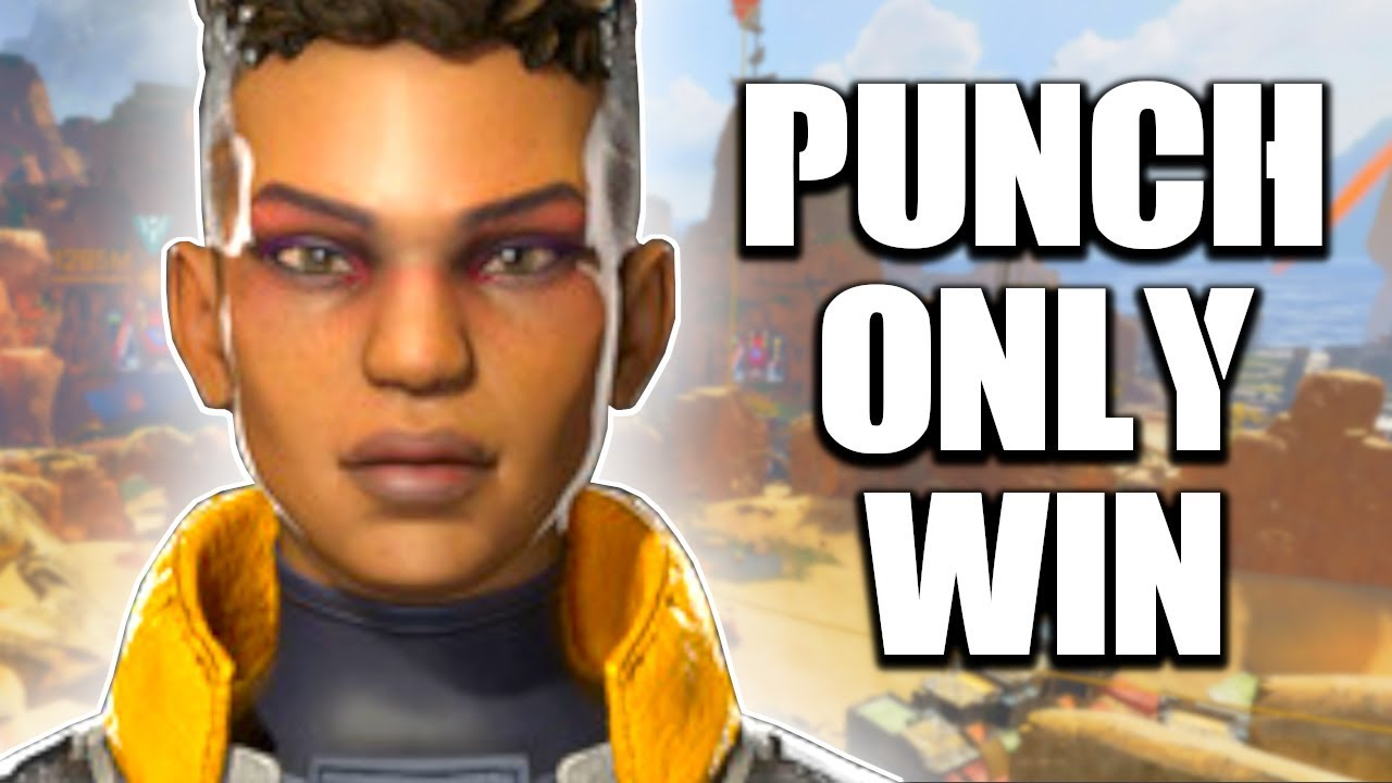 APEX LEGENDS PUNCHING ONLY WIN! THE MOST INTENSE GAME YOU WILL EVER WATCH...