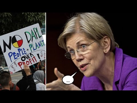 """Elizabeth Warren Urged Democrats to """"Show Spine"""" as She Remained Silent on DAPL"""