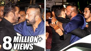 Sanjay Dutt HUGS Salman Khan To End FIGHT At Ambani's House Ganpati 2017 Celebrations