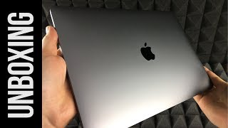 New 13-inch MacBook Air with Touch ID - Space Gray - Unboxing | 8th-generation