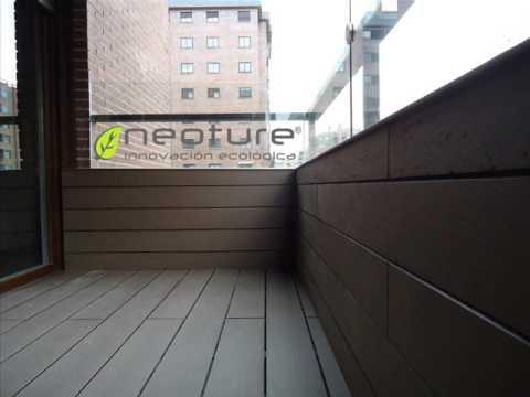 Madera sintetica instalacion de tarima y fachada youtube for Losetas madera terraza