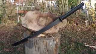 meister messer ch testing cold steels tactical katana machete