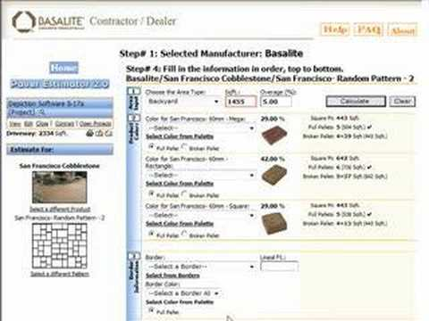 Paver Estimator, Paving Calculator, Interlocking Pavers
