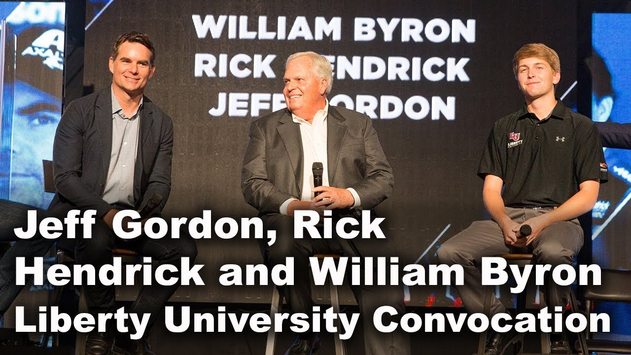 Jeff Gordon, Rick Hendrick and William Byron - Liberty University ...