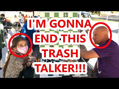 8 Year Old Girl Hustles Trash Talker With Genius Trap! Next Beth Harmon! Boston Mike vs Dada